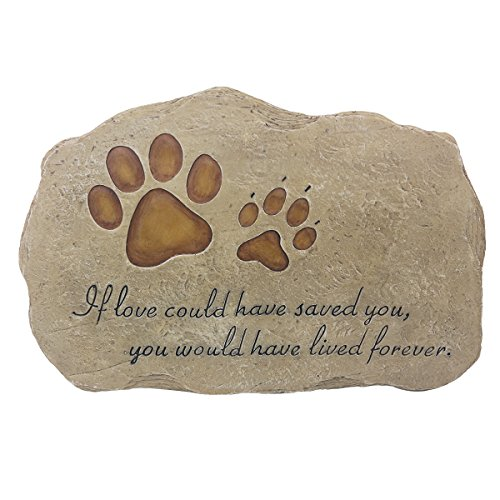 Memorial Dog Pet - JSYS Pet Memorial Stone Marker for Dog or Cat for Outdoor Garden, Backyard, or Lawn.