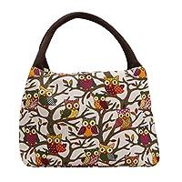 Goddessvan Portable Owl Thermal Insulated Tote Picnic Lunch Cool Bag Cooler Bag Handbag Pouch
