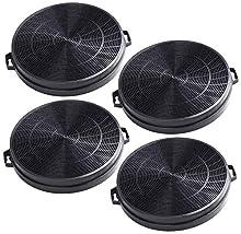 4x AH-CHF02H Filtro de carbón activado compatible con campana extractora CATA, Hygena, Moffat MCH665 MCH665X