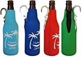 Cheap CoozieClaw Unique Bottle Cooler with Built in Hook and Bottle Opener Fun Gift #1 Hanging Bottle Holder Easily Hang Your Cold Beer Bottle Sleeve Anywhere (4, Red, Blue, Green, Turquoise with logo)