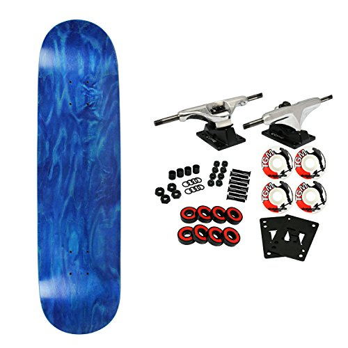- Moose Complete Skateboard Stained Blue 8.0
