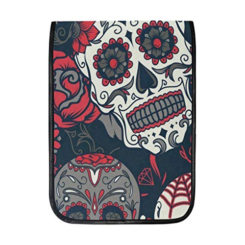 Tablet Sleeve Case Colorful Skull Laptop Protective Cover Bag Compatible 12 12.9 inch iPad Pro Cases Shockproof for Girls Boys Women Men