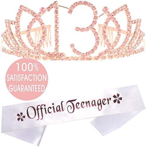 13th Birthday Tiara Sash Decorations product image