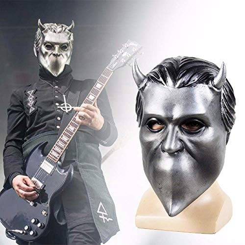- Ghost B.C. Rock Roll Band Cosplay Latex Mask Nameless Ghoul Ghost bc Halloween Costume Props