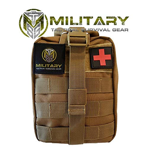 MTSG 2.0 Updated First Aid Kit for Emergency, Camping, Hunting, Hiking, Sports, Home, Car, School, Office, Travel (Coyote Brown)