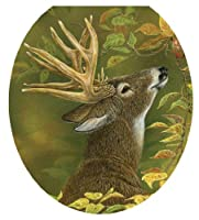 Toilet Tattoos, Toilet Seat  Cover Decal, Lucky Find Deer, Size Roound/standard