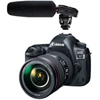 Canon EOS 5D Mark IV with EF 24-105mm f/4L IS II USM Lens - With Tascam DR-10SG Camera-Mountable Audio Recorder with Shotgun Microphone