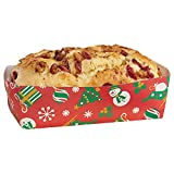 Hoffmaster 610904 Holiday Loaf Pan, Large, 1-3/4'' Wall, 2-5/8'' x 5-1/2'' (6 Packs of 50)