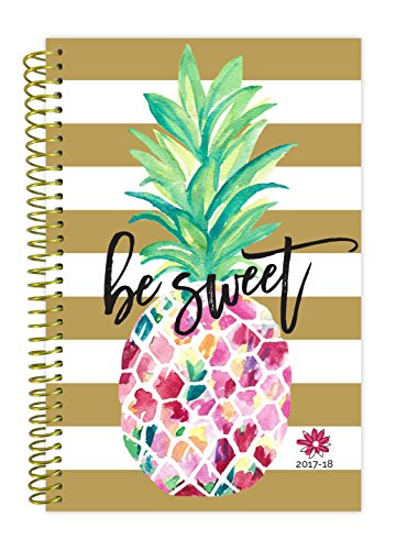 "bloom daily planners 2017-18 Academic Year Daily Planner - Passion/Goal Organizer - Monthly and Weekly Datebook and Calendar - August 2017 - July 2018 - 6"" x 8.25"" - Pineapple"