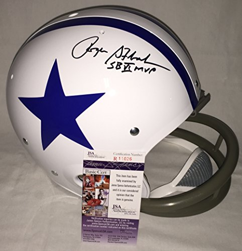 Roger Staubach Signed / Autographed Dallas Cowboys Full Size Authentic 2-Bar Football Helmet - JSA Certified