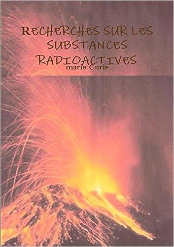 Book Recherches Sur Les Substances Radioactives