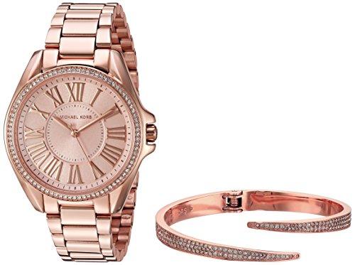 (Michael Kors Women's Kacie Rose Gold-Tone Watch and Bracelet Gift Set MK3569)