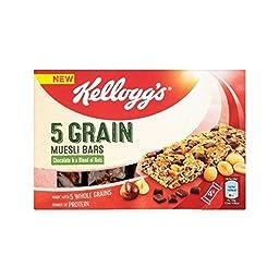 Kellogg\'s 5 Grain Muesli Bar Chocolate & Nuts 4 x 30g - Pack of 4