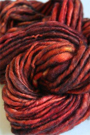 Jade Sapphire Genghis Handspun Cashmere Yarn in 180 Orange Entendre