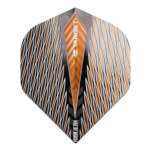 10 x Sets Target Dart Flights Standard Vision Ultra Quartz Orange by PerfectDarts