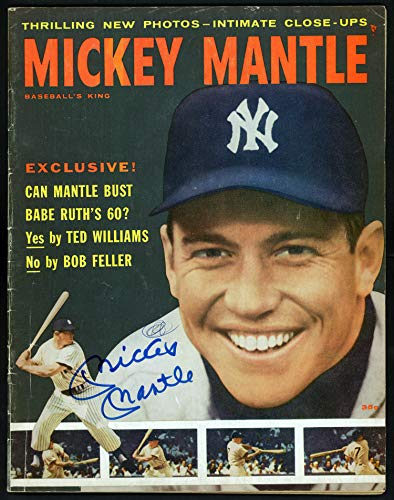 (Mickey Mantle Autographed Baseball's King Magazine New York Yankees Beckett BAS #A60526)