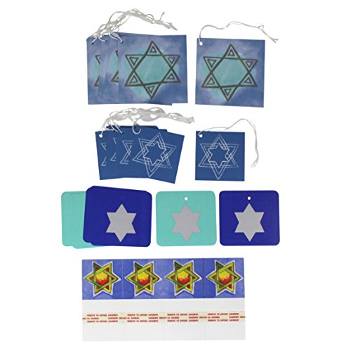 Iconikal Cardstock Tie-On Gift Tags 60-Count, Hanukkah (Assortment Tags)