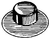 50 Washer Cap Type Pushnut Fasteners 5/8'' Stud Diameter