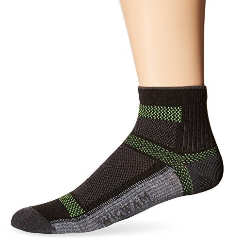 Wigwam Men's Ultra Cool-Lite Ultimax Ultra-Lightweight Quarter Sock,Black,Large/shoe Size:Men's 9-12,Women's ()