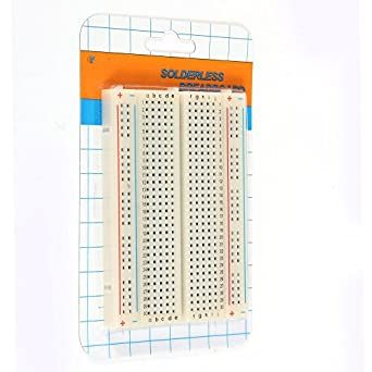 EFIXTK 3PCS Mini Solderless Breadboard,400 Ties Clear Circuit PCB Board Kit for Proto Shield Circboard Prototyping