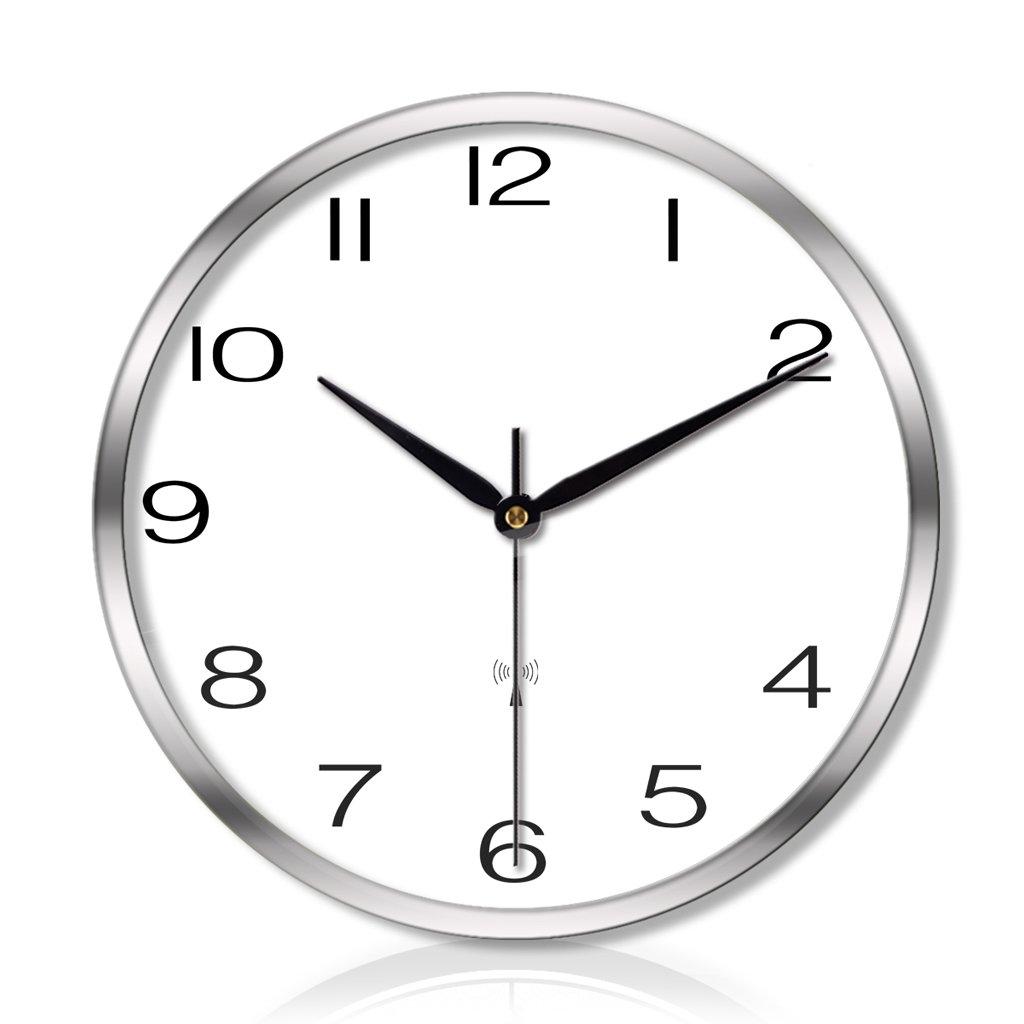 クリエイティブなリビングルームのベッドルームの金属壁の時計ミュートスキャンスマート電気時計の壁時計 LCS (色 : Dスタイル dすたいる-シルバー しるば゜, サイズ さいず : 14 inches) B07FC7NDSJ 14 inches|Dスタイル dすたいる-シルバー しるば゜ Dスタイル dすたいる-シルバー しるば゜ 14 inches