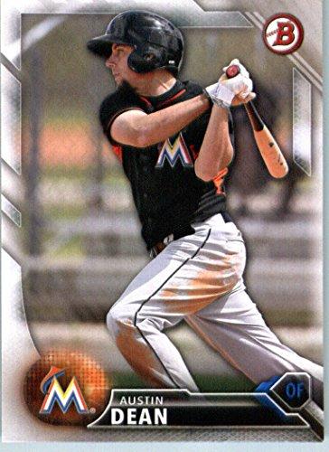 2016 Bowman Prospects #BP146 Austin Dean Miami Marlins Baseball Card