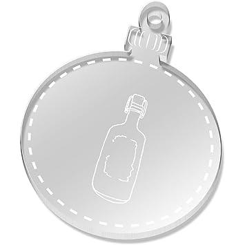 2 x 52mm Botella de Vidrio Claro Decoraciones de Navidad (CB00020235)