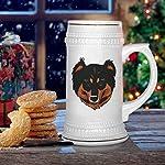 Custom Beer Mug English Shepherd Head Ceramic Drinking Glasses Beer Gifts White 18 OZ Design Only 13