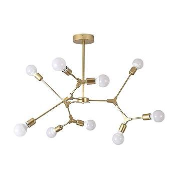 9-cabezas Vintage Industrial Lámparas colgantes Retro Loft ...