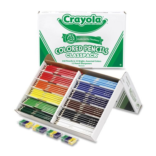 Classpack Colored Pencils, 240/BX, 12 Assorted Colors, Sold