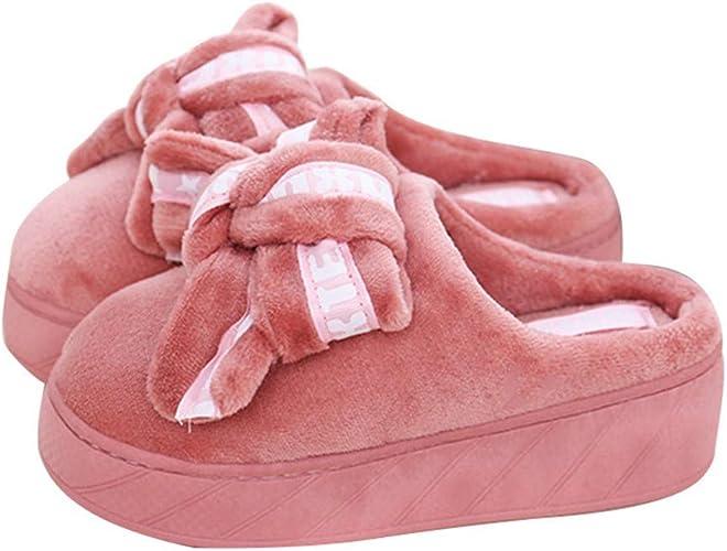 IyACE Chaussures Femme Confort Hiver,Pantoufles de Coton