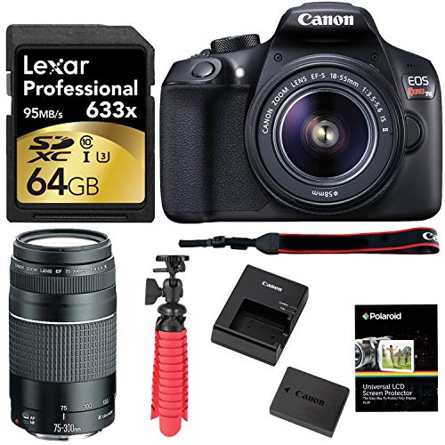 Canon EOS Rebel T6 Digital SLR Camera Kit with EF-S 18-55mm and EF 75-300mm III Zoom Lenses + 64GB Card + Accessory Bundle Review