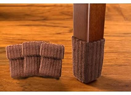 NancyProtectzTM Large/Brown Hardwood Floor Chair Leg Protector   Furniture  Moving Sliders   Amazon