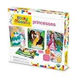 The Orb Factory Sticky Mosaics Princess Arts and Crafts (2052 Piece), Peach/Pink/Teal/Purple, 12'' x 2'' x 10.75''