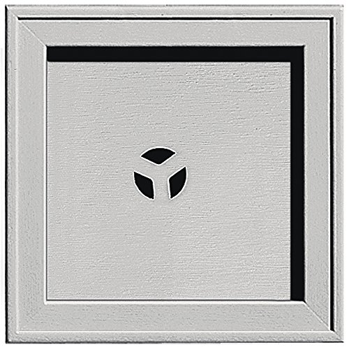 Builders Edge 130110004030 Recessed Square Mounting Block 030, Paintable (Block Mounting Square)