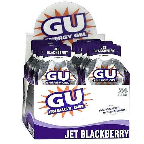 Gu Energy Gel-dietary Supplements, Jet Blackberry 24 Ea (Pack of 3) by GU