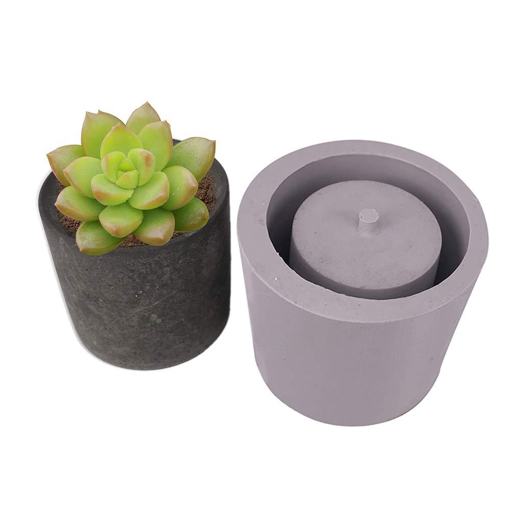 3D Round Ceramic Clay Pots Mold Concrete Planter Silicone Mould Home Decoration Craft Handmade Flower Pot Mold DIY Ceramic Plaster Vase Mould Garden Crafts Succulent Plants Concrete Planter Vase Molds