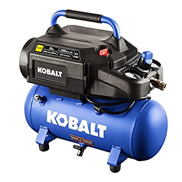 Kobalt 3-Gallon Portable 150-PSI Electric Hot Dog Air Compressor