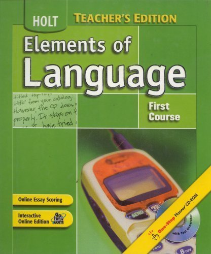 Elements of Language 2004 grade 7 first course, Annotated Teacher's Edition