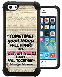 CSKFUCorpCase iphone 6 5.5 plus iphone 6 5.5 plus Case / iphone 6 5.5 plus iphone 6 5.5 plus Cover - Marilyn Monroe Quote Inspirational Good Things Fall Apart / Hybrid Unique Case With Great Protection