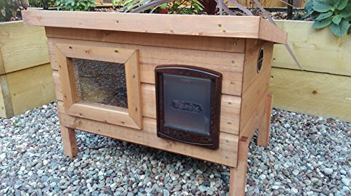 Lge-Outdoor-Cat-Shelter-with-Sureflap-Microchip-Cat-Flap