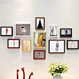 11 Frame Photo Wall Solid Wood Colored Mix And Match Combination Photo Hanging Living Room Bedroom Corridor 10 Inch 7 Inch 135 70cm
