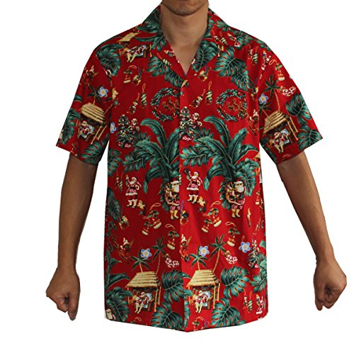 Men's Christmas Santa Luau Cruise Hawaiian Aloha Shirt