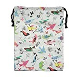 CMTRFJ Personalized Drawstring Bag-Summer Bird Holiday/Party/Christmas Tote Bag