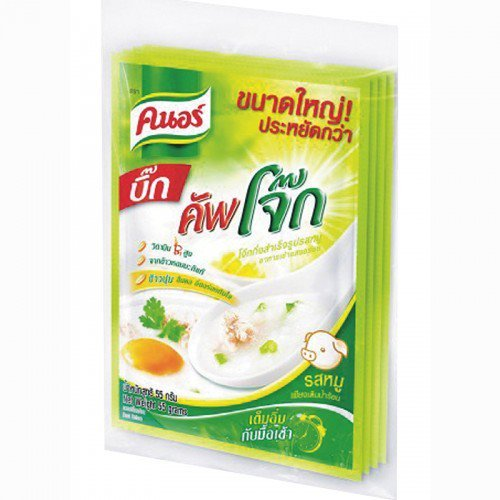 Knorr Instant Rice Porridge Pork Flavor 55 g. Pack 4