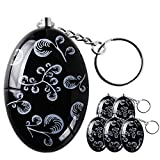 Lermende 120 dB Personal Alarm Keychain Emergency Safety Self Defense Keyring Batteries Included Black, 6pcs/Pack For Sale