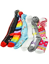 Girl's Colorful Assorted Winter Tights with Heel and Toe...