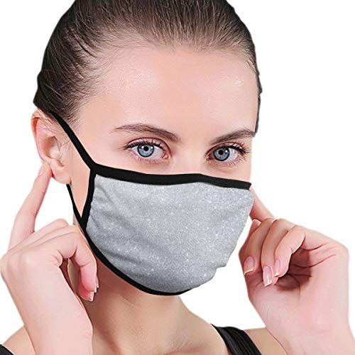 WOWRIGHT Cute Unisex Anti Dust Face Mouth Mask for Man Woman (Bling Diamond Style Sliver Pattern)