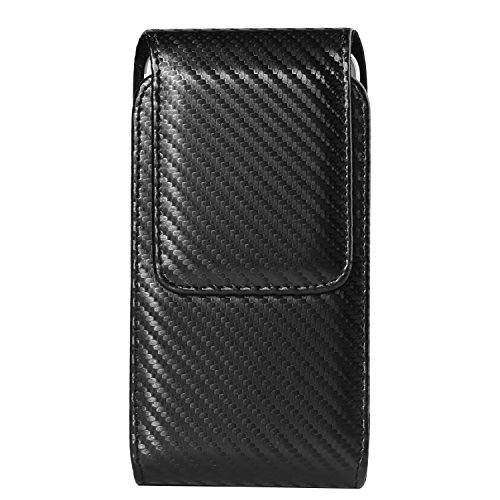 Clip Twill (Twill Carbon Fiber Vertical Swivel Belt Clip Holster Case for Samsung Galaxy S8 Active / Note FE / S8 / J5 J7 A5 A7 / J7 Pro / J7 Max / J7 Perx / J7 V / C5 C7 Pro / Xcover 4 / Apple iPhone 7 Plus)