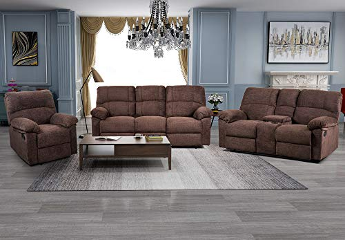 MALIFT Sectional Sofa, Living Room Furniture Sets, Reclining Sofa, Chenille Recliner Set Reclining ()